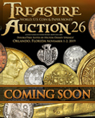 Treasure and World coin Auction #21 -May 3-4, 2017 ONLINE