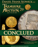 Treasure and World coin Auction #29 - NOW -OPEN - REGISTER TODAY