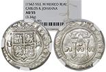 Mexico City, Mexico, cob 1 real, Charles-Joanna,