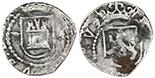 Lima, Peru, cob 1/4 reales, Philip II, assayer Diego de la Torre, various varieties, average specimens. 15 available