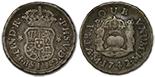 Mexico, pillar 1/2 real, Ferdinand VI, 1760M, encapsulated NGC AU 58.