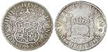 Lima, Peru, pillar 8 reales, Ferdinand VI, 1754JD.