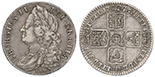 London, Great Britain, shilling, George II, 1745, LIMA below bust.