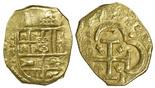 Seville, Spain, cob 4 escudos, (16)49, assayer R above mintmark S, rare.