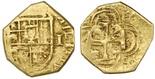 Seville, Spain, 1 escudo, Philip III, assayer not visible.