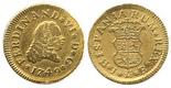 Madrid, Spain, bust 1/2 escudo, Ferdinand VI, 1749JB.