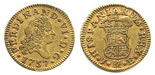 Madrid, Spain, bust 1/2 escudo, Ferdinand VI, 1757JB.