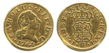 Madrid, Spain, bust 1/2 escudo, Charles III (young bust), 1764JP.