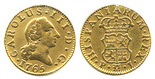 Madrid, Spain, bust 1/2 escudo, Charles III (young bust), 1765PJ.