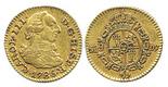 Madrid, Spain, bust 1/2 escudo, Charles III, 1786DV.