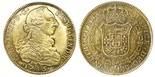 Bogota, Colombia, bust 8 escudos, Charles III, 1785JJ, PCGS AU detail, ex-Eldorado.