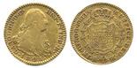 Madrid, Spain, bust 2 escudos, Charles IV, 1801FA.