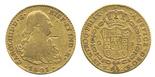 Seville, Spain, bust 2 escudos, Charles IV, 1801CN.