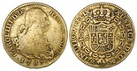 Madrid, Spain, bust 2 escudos, Charles IV, 1789MF. CT-323; KM-435.1. AVF with toning around details.