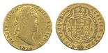 Madrid, Spain, bust 2 escudos, Ferdinand VII, 1826AJ.