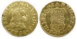 Madrid, Spain, bust 1/2 escudo, Ferdinand VI, 1756JB.