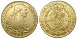 Madrid, Spain, bust 2 escudos, Charles IV, 1789MF. CT-323; KM-435.1. AXF, no problems.