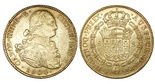 Potosi, Bolivia, bust 8 escudos, Charles IV, 1806PJ. CT-113; KM-81. XF with luster in legends and on reverse, lightly struck bust, minor marks.