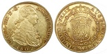 Madrid, Spain, bust 8 escudos, Charles IV, 1802FA. CT-33; KM-437.1. AU with hairlines on obverse, much luster and nice toning.