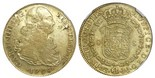 Lima, Peru, bust 8 escudos, Charles IV, 1798IJ, scarce variety with HIS ET IND, NGC XF 45.