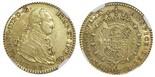 Madrid, Spain, bust 2 escudos, Charles IV, 1803FA, NGC AU 50.