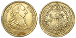 Popayan, Colombia, bust 1 escudo, Charles IV, 1805JT, NGC AU 53.