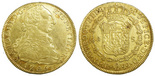Bogota, Colombia, bust 8 escudos, Charles III, 1785JJ.