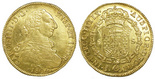 Santiago, Chile, bust 8 escudos, Charles IV (bust of Charles III, 1804FJ.