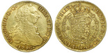 Santiago, Chile, bust 8 escudos, Charles IV (bust of Charles III, 1796DA.