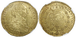 Santiago, Chile, bust 8 escudos, Charles III, 1788DA, encapsulated NGC AU details / surface hairlines.