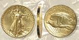 USA (Philadelphia mint), $20 double eagle high relief Saint-Gaudens, 1907.