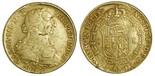 Santiago, Chile, bust 8 escudos, Charles III, 1776DA, popular date.