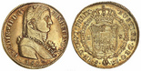 Santiago, Chile, bust 8 escudos, Ferdinand VII transitional (