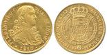 Mexico City, Mexico, bust 8 escudos, Ferdinand VII transitional (