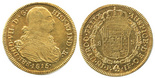 Popayan, Colombia, bust 8 escudos, Ferdinand VII (bust of Charles IV), 1815JF.