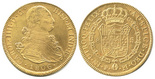 Bogota, Colombia, bust 8 escudos, Ferdinand VII (bust of Charles IV), 1815JF.