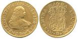 Mexico City, Mexico, bust 4 escudos, Ferdinand VI, 1754MF.