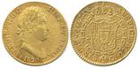 Madrid, Spain, bust 2 escudos, Ferdinand VII, 1820GJ.
