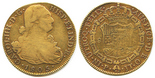 Popayan, Colombia, bust 8 escudos, Charles IV, 1805JT.