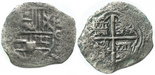 Potosi, Bolivia, cob 2 reales, (1650-1)O.
