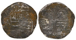 """8 reales """"Spice Islands wreck,"""" sunk ca. 1629 off Indonesia"""