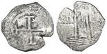 Potosi, Bolivia, cob 8 reales, 1675E.