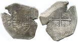 Mexico, cob 8 reales, Philip IV, assayer P, interesting shape.
