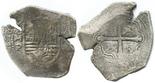 Mexico, cob 8 reales, Philip IV, assayer P, interesting shape.