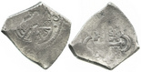 Mexico City, Mexico, cob 4 reales, Philip V, assayer not visible, uncleaned, ex-Rupe Gates collection.