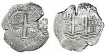 Potosi, Bolivia, cob 8 reales, 1676E.