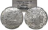Lima, Peru, bust 8 reales, Charles III, 1782MI, NGC Cazador / genuine.