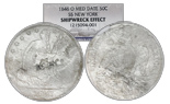 USA (New Orleans mint), half dollar seated Liberty, 1846-O, encapsulated NGC SS New York Shipwreck Effect.