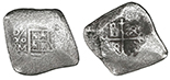 Mexico, cob 8 reales, Charles II, assayer not visible.