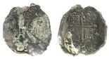 Mexico, cob 4 reales, Philip II, assayer not visible, thickly encrusted with coral.